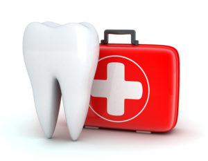 Tooth and first-aid kit graphic